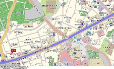 【地図】グランド・ガーラ西麻布