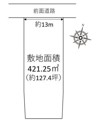【区画図】箕面市坊島1丁目 中古戸建