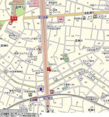 【地図】ハイタウン世田谷代田