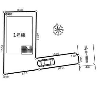 【区画図】伊勢原市石田第3 新築戸建 1号棟