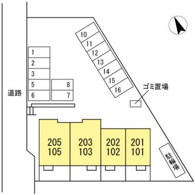 【区画図】サンローズコートⅢ