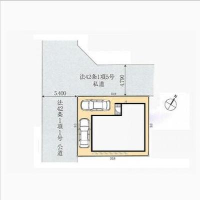 【区画図】所沢市弥生町 全1棟