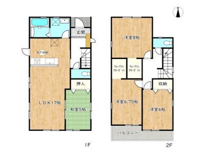 【区画図】揖保郡太子町鵤 5期/全1棟