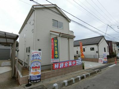 【外観】土浦市中3期 新築戸建 1号棟
