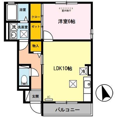 【区画図】D-room秋月 C棟