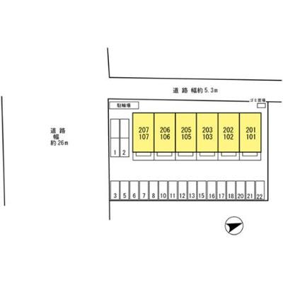 【区画図】カーサ・ステラ西浜