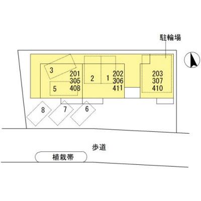 【区画図】コーポ田野下