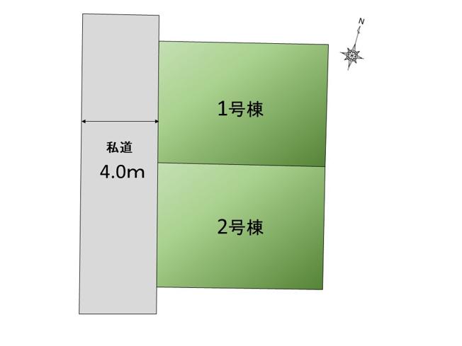 【区画図】建物102㎡! 大田区池上5丁目新築一戸建