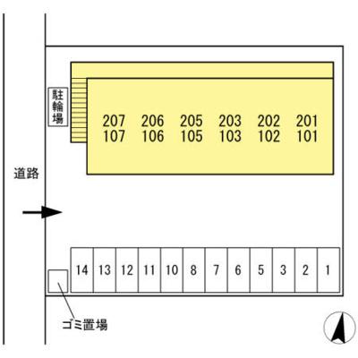 【区画図】ルミエール東尾道
