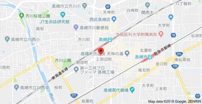 【地図】グランベール小阪
