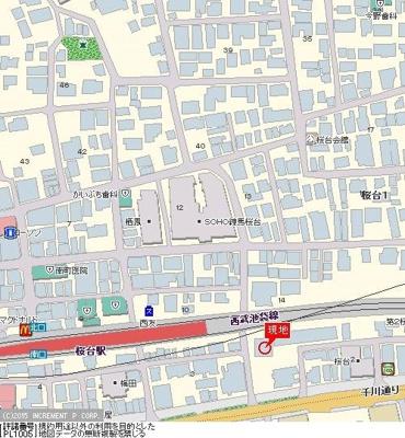 【地図】グラントゥルース桜台駅前