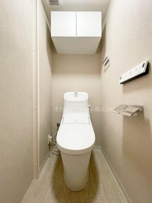 【トイレ】アクシルコート新大橋 12階 1990年築 リ ノベーション済