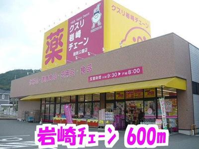 クスリ岩崎チェーンまで600m