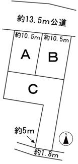 【区画図】57360 各務原市川島河田町分譲地