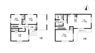 土地面積:90.36㎡、建物面積:85.71㎡、ビルトイン車庫13.49㎡
