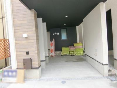 【外観パース】新築戸建 墨田区 向島4丁目 所有権16.76坪 3LDK 2号棟