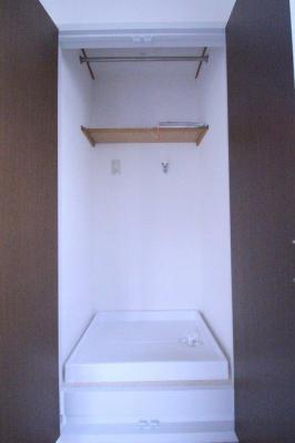 隠せる洗濯機置き場