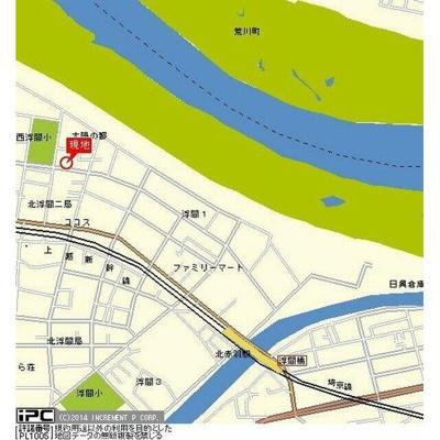 【地図】ライブコア赤羽