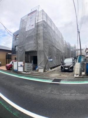 【前面道路含む現地写真】葛飾区奥戸3丁目新築戸建て【全3棟】