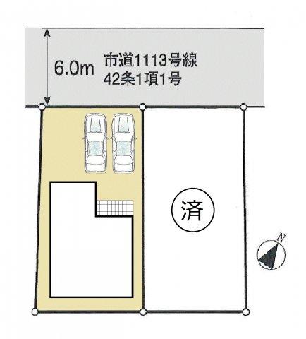 【区画図】福生市志茂 新築戸建全2棟