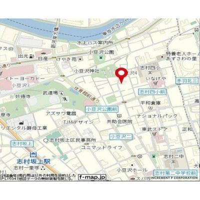 【地図】スカイコート志村坂上