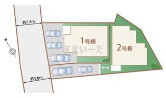 【区画図】南風原町新川【全2棟】1号棟