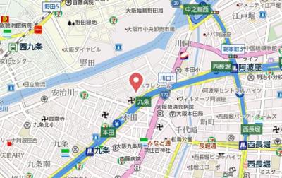 【地図】レオンコンフォート阿波座西