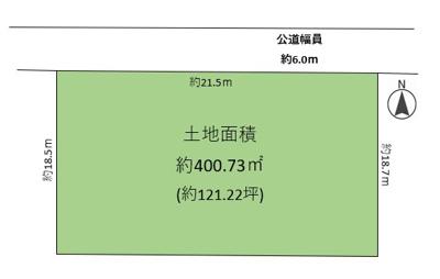 【区画図】鷲林寺南町 売土地