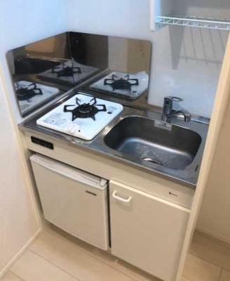 【キッチン】AKレジデンス三軒茶屋 敷金0 バストイレ別 独立洗面台 ロフト