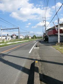 【前面道路含む現地写真】鴻巣市吹上富士見2丁目の売地