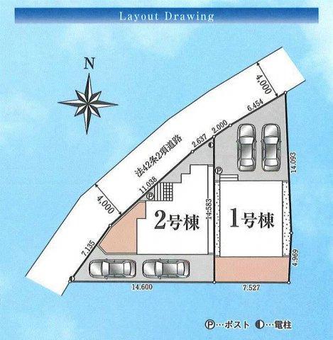【区画図】青梅市千ヶ瀬町3丁目 新築戸建全2棟