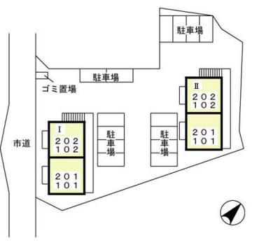【区画図】オーパス Ⅰ・Ⅱ