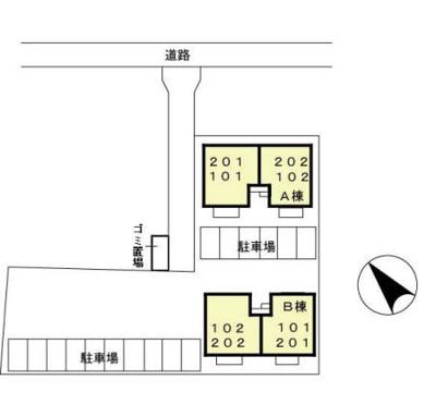 【区画図】エルヴェ・トアー A・B