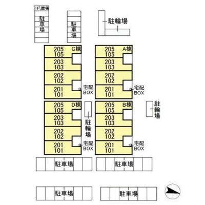 【区画図】クレスト松代 ABCD