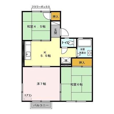 【区画図】コスモシティ岡野 B・C・D