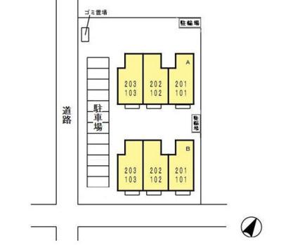 【区画図】ファミールみつほ B