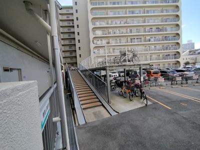 駐輪場もあります 梅田まで自転車でいけますね
