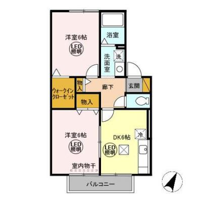 【区画図】D&K 壱番館