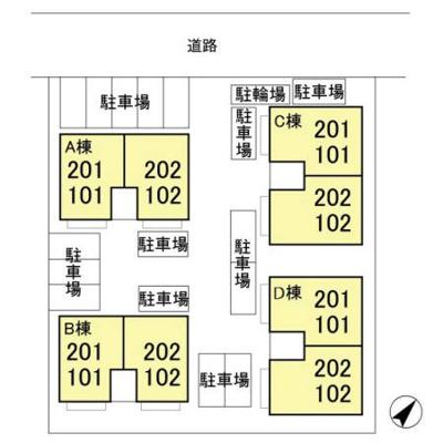 【区画図】花畑ロイヤルパーク CD C