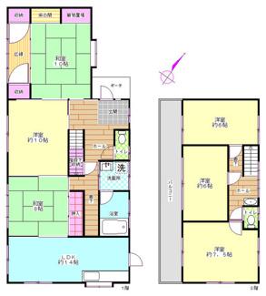 建物面積156.53平米。6LDK。全居室6帖以上。