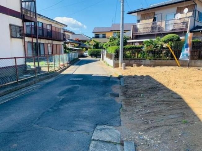 【前面道路含む現地写真】水戸市元吉田町 売地 60坪
