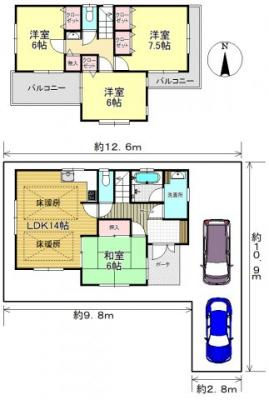 区画図:平日もご案内可能です 三郷新築ナビで検索