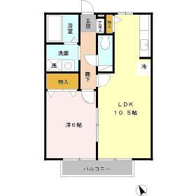 【区画図】エスポワール Ⅱ