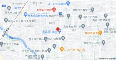 【地図】柳川ハイツ