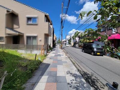 【前面道路含む現地写真】北区紫野下門前町 建築条件付 売土地