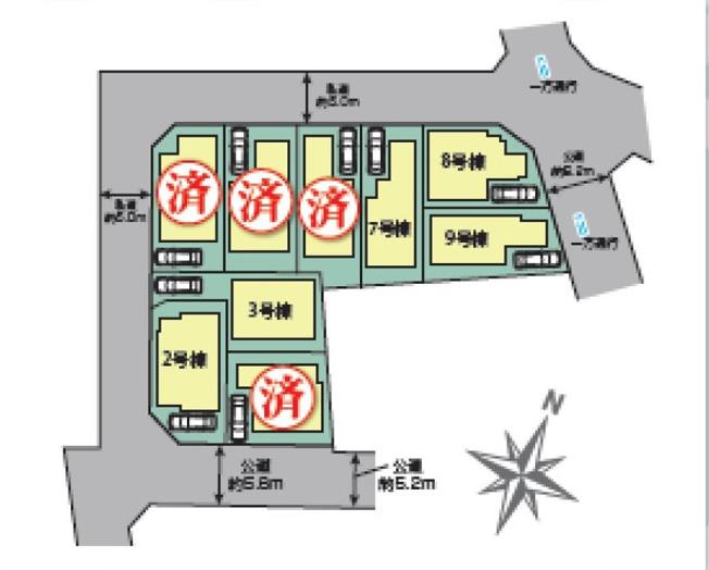 【区画図】仲介手数料無料 世田谷区千歳台5丁目新築一戸建て