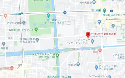【地図】グラウンデュークス西大島