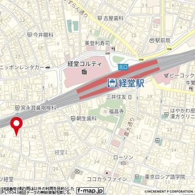 【地図】サンフレンズ経堂