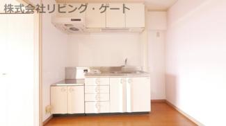 沢山の収納が付いているキッチン。