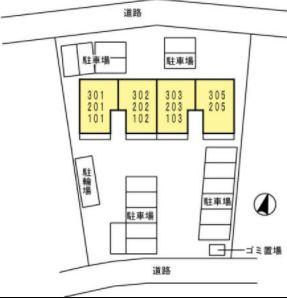 ソフィス蛍田の駐車場です。